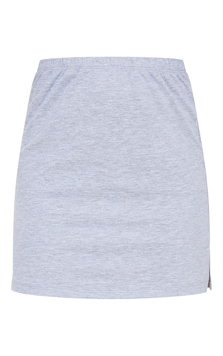 Petite Grey Split Hem Sweat Mini Skirt 6