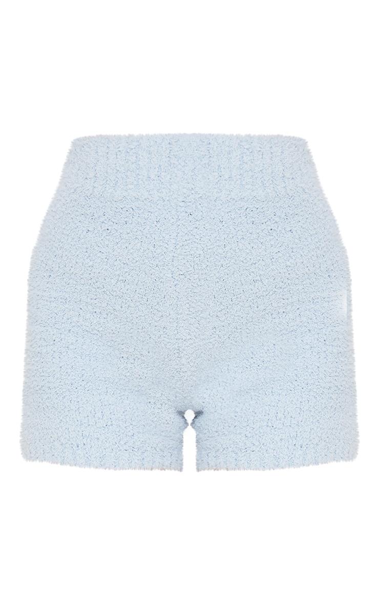 Short bleu ciel Premium  en maille tricot fluffy 6