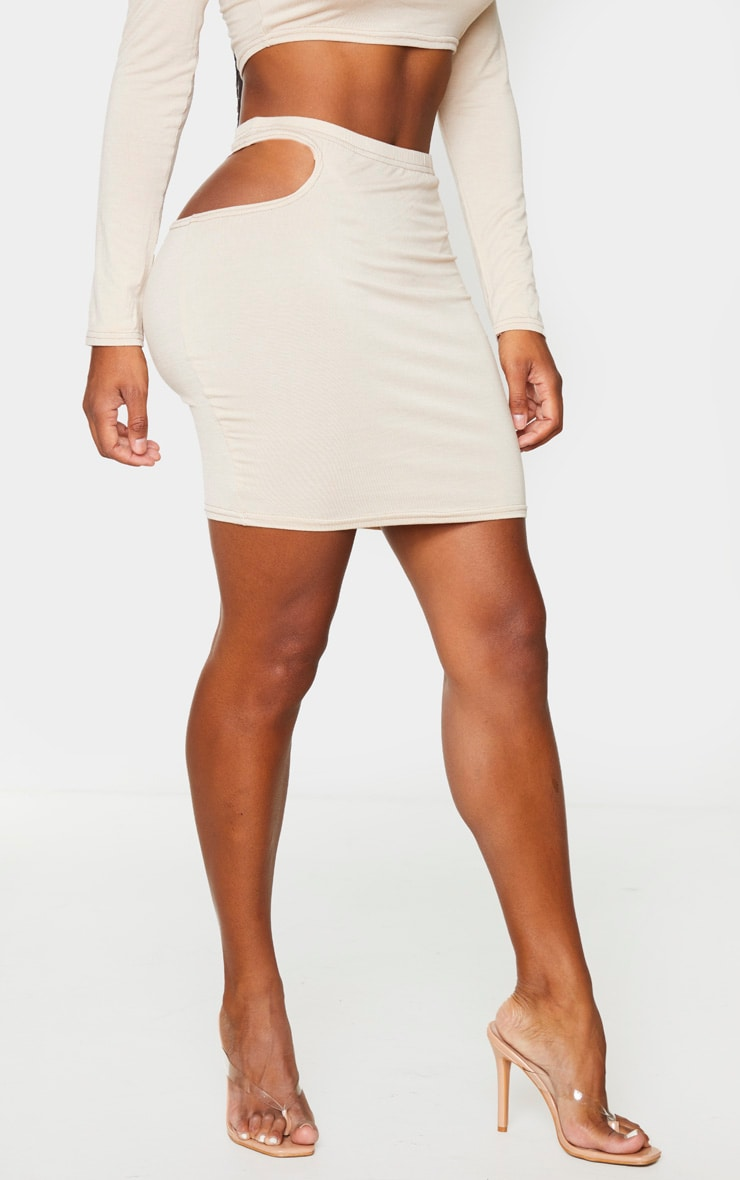 Shape Stone Jersey Cut Out Detail Bodycon Skirt 2