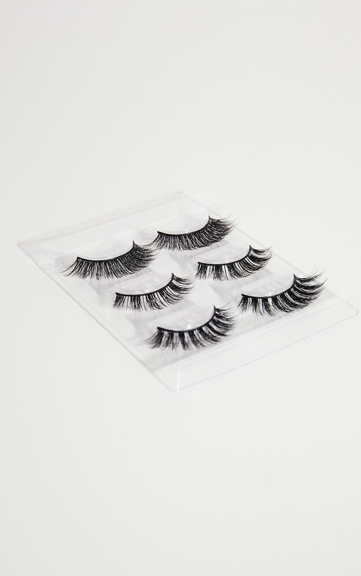 Doll Beauty X PRETTYLITTLETHING Exclusive 3 Pack Faux Mink Lashes 2