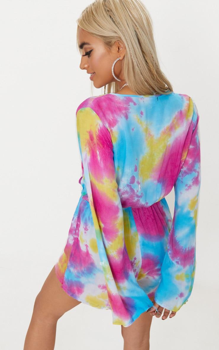 Esmey Multi Tie Dye Wrap Playsuit  2