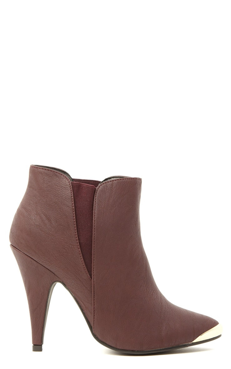 Anastasia Burgundy Leather Ankle Boots 3