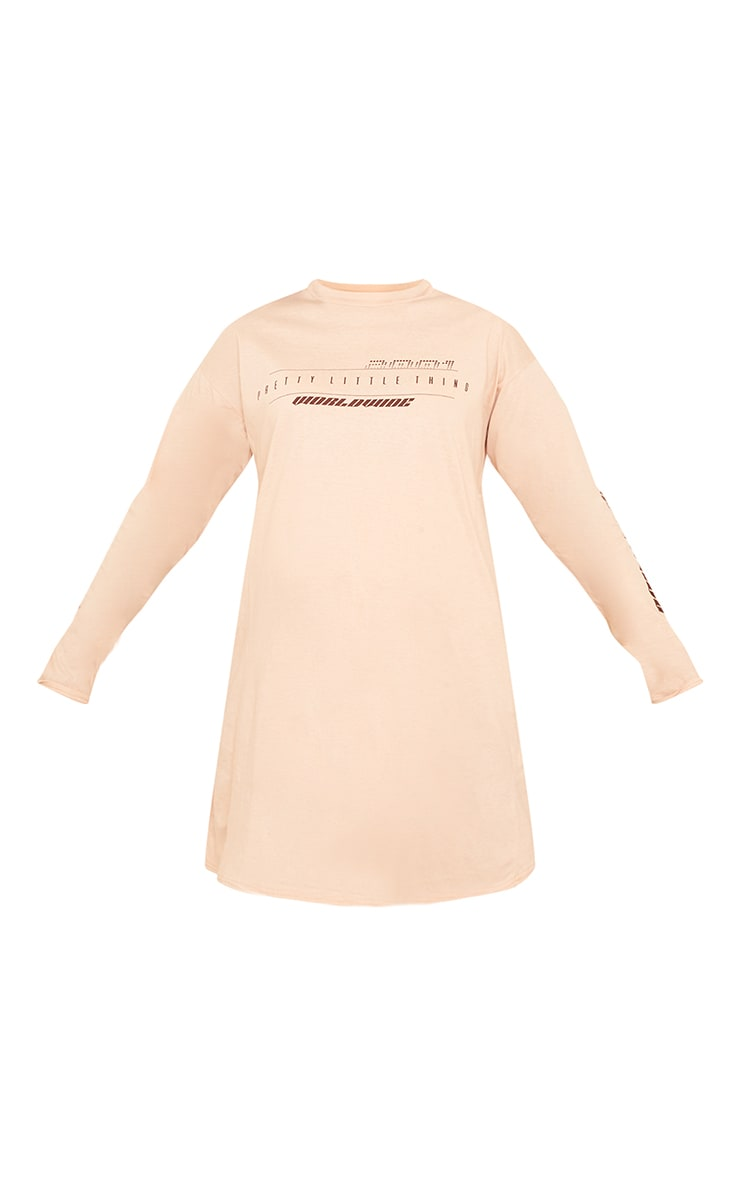 PRETTYLITTLETHING Maternity Camel Graphic T Shirt Dress 5