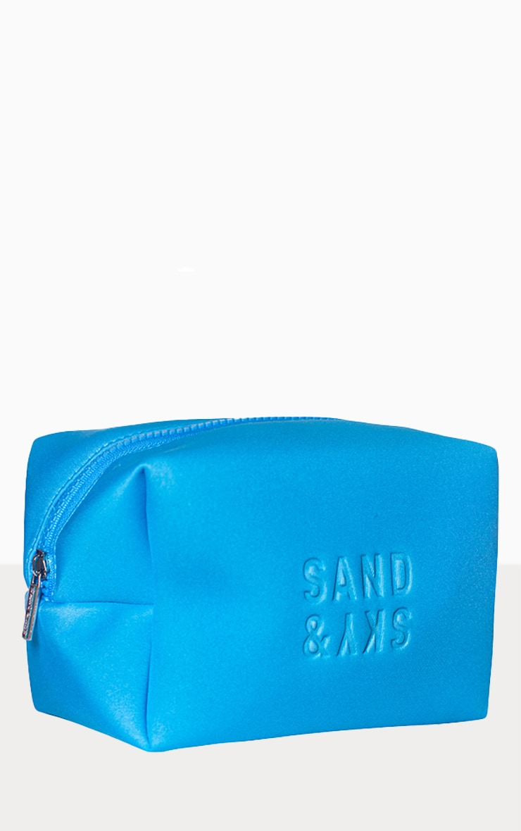 Sand & Sky Neoprene Holiday Makeup Pouch Tasmanian Spring Water Blue 1