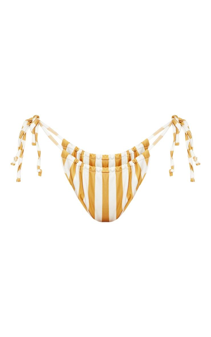 Mustard Stripe Bikini Bottom 3