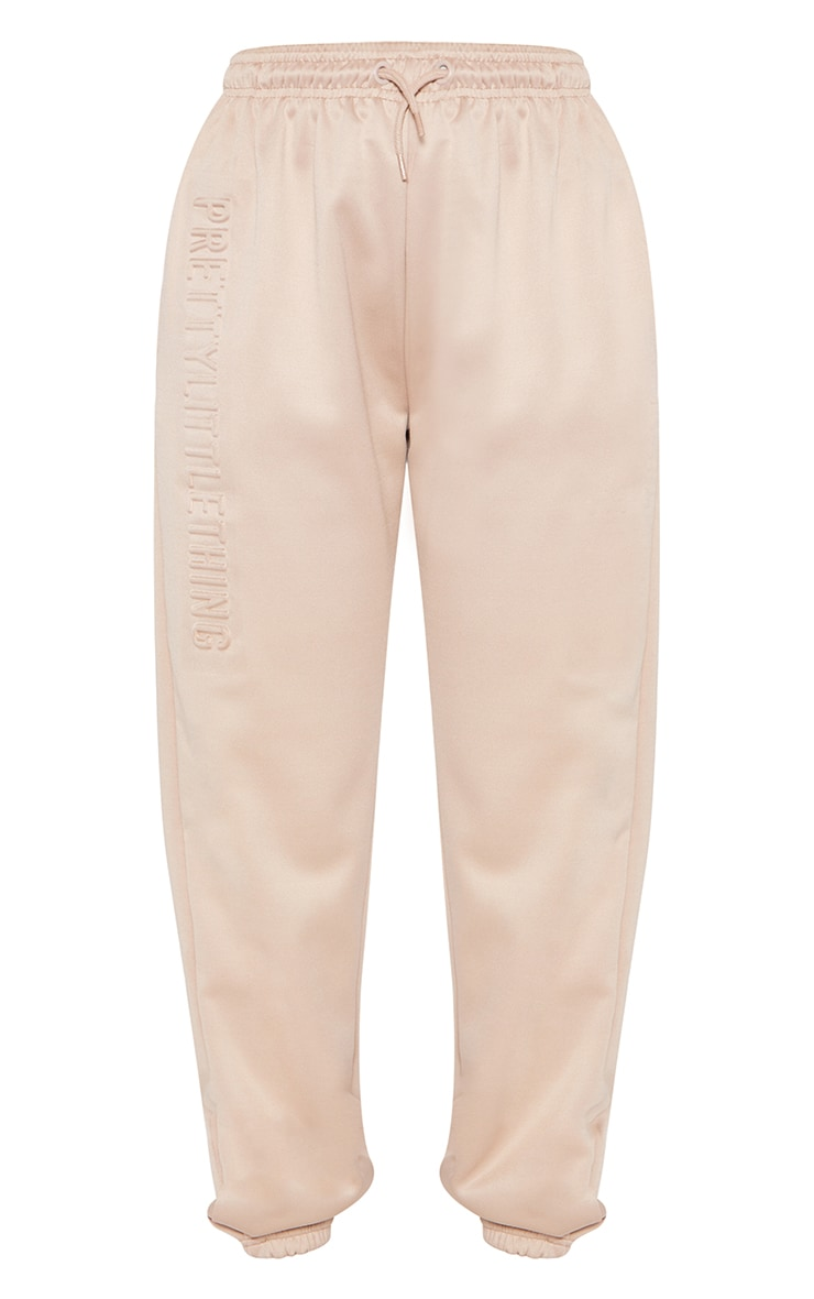 PRETTYLITTLETHING Stone Scuba Embossed Joggers 5