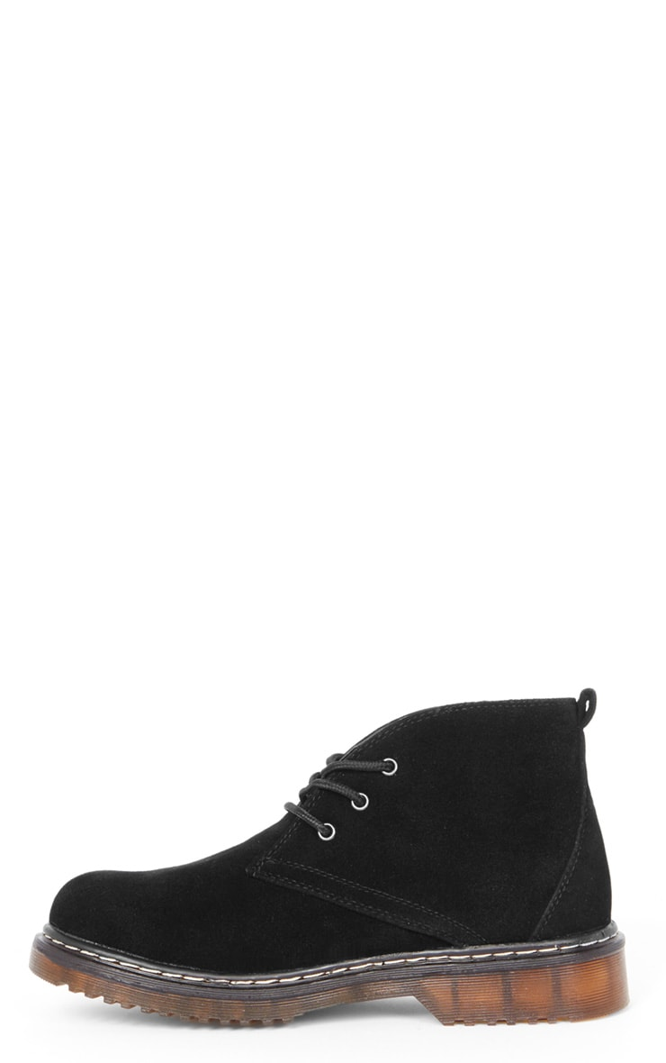 Bianca Black Suedette Desert Boot  1