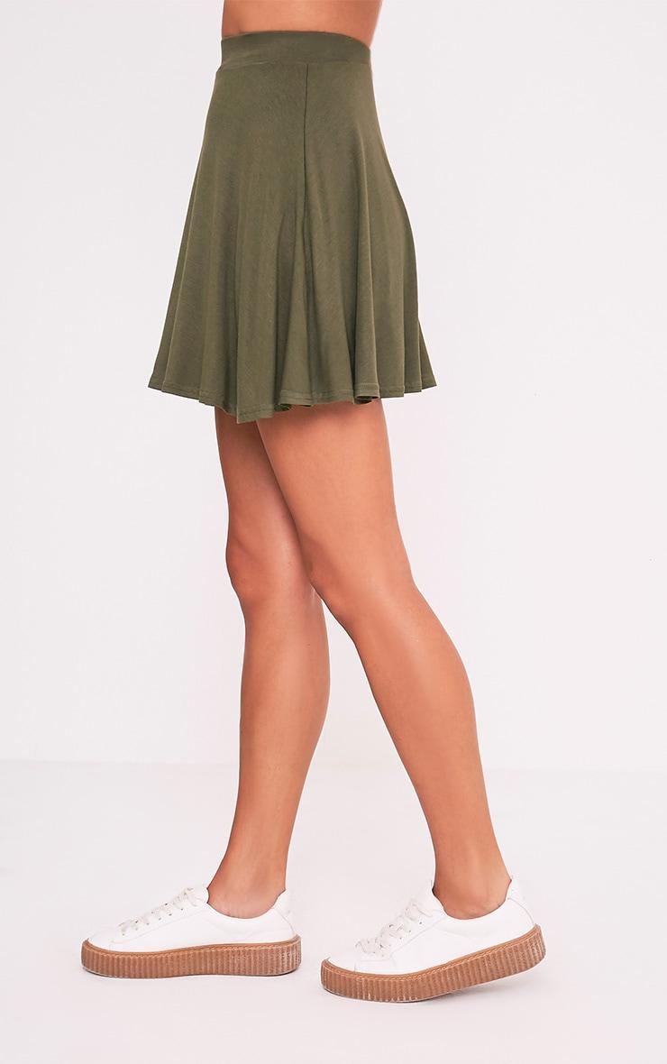 Basic jupe patineuse kaki 4
