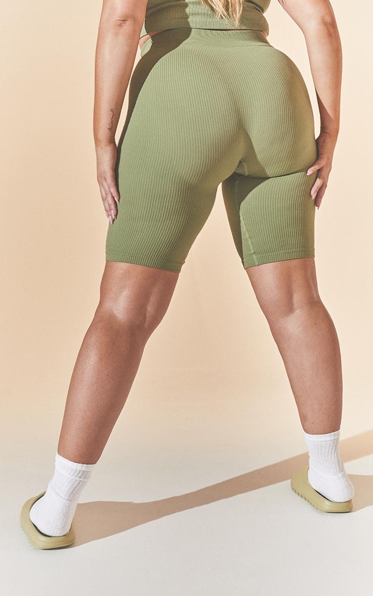 Plus Khaki Contour Bike Shorts 3