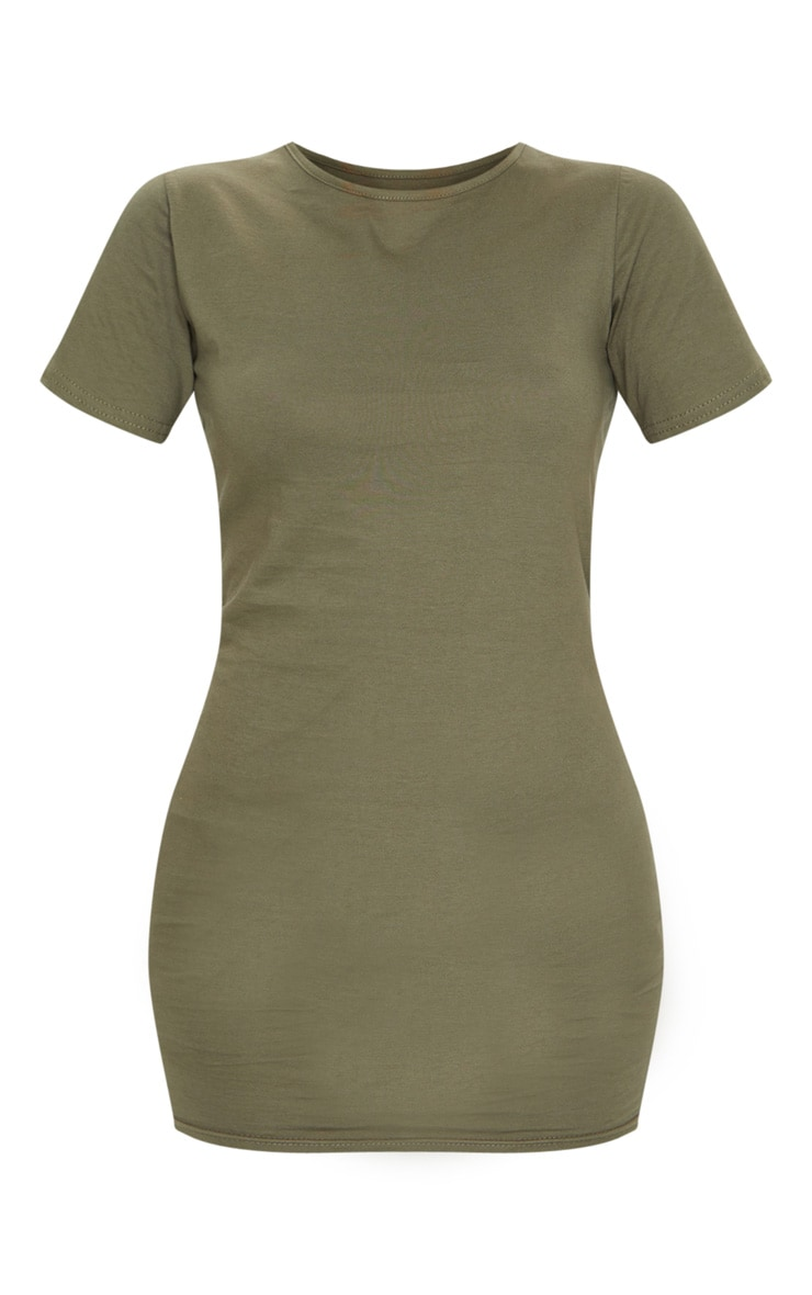 Khaki Short Sleeve Bodycon Dress 5