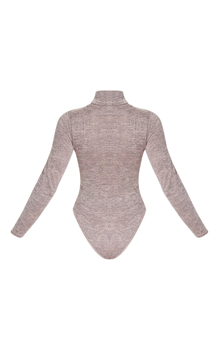 Blush Roll Neck Long Sleeve Bodysuit 4