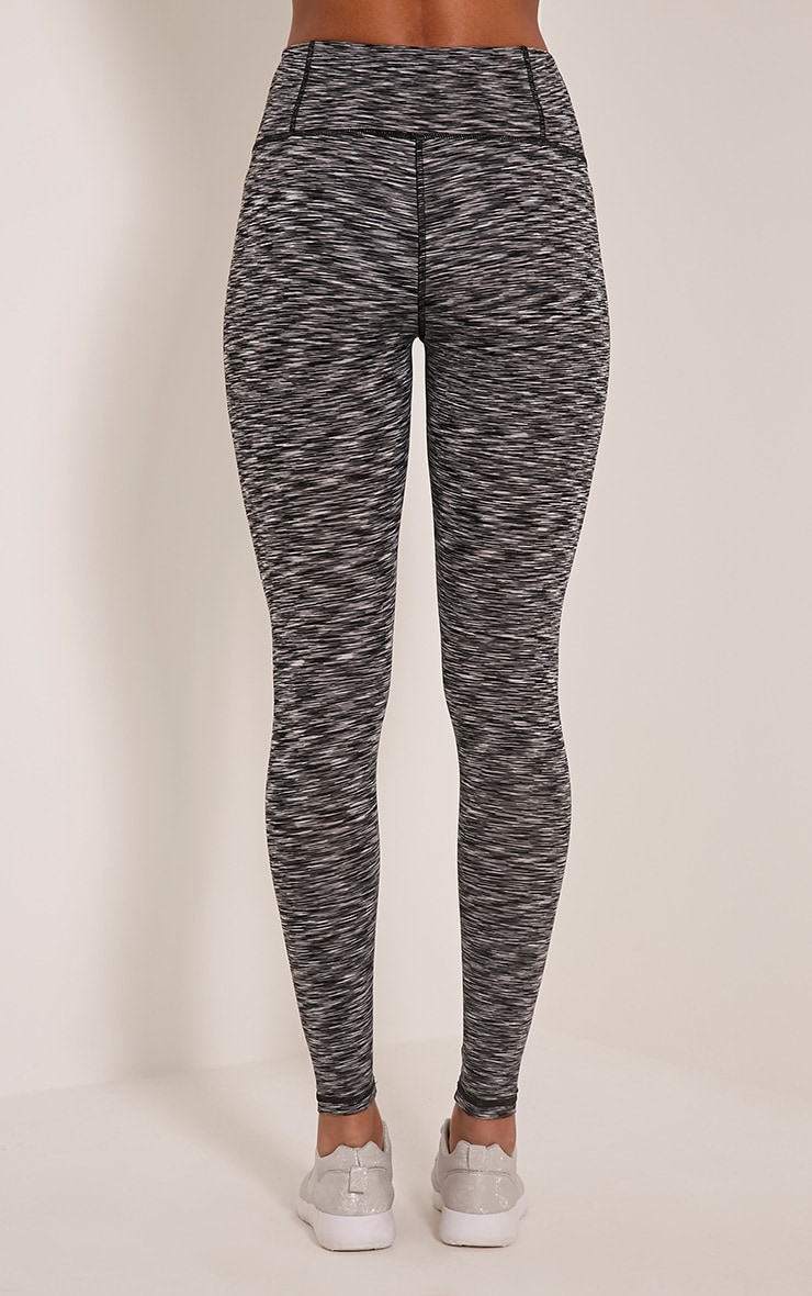 Kaylie leggings sport chiné gris 5