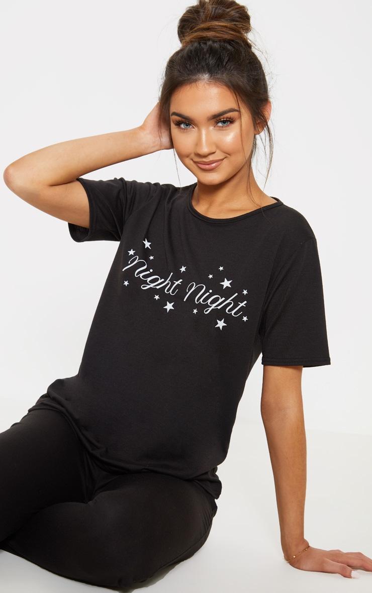 Black Night Night Pyjama Set  4