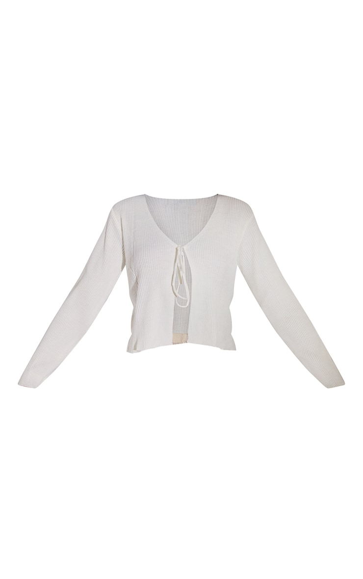 Ivory Tie Front Cardigan 5