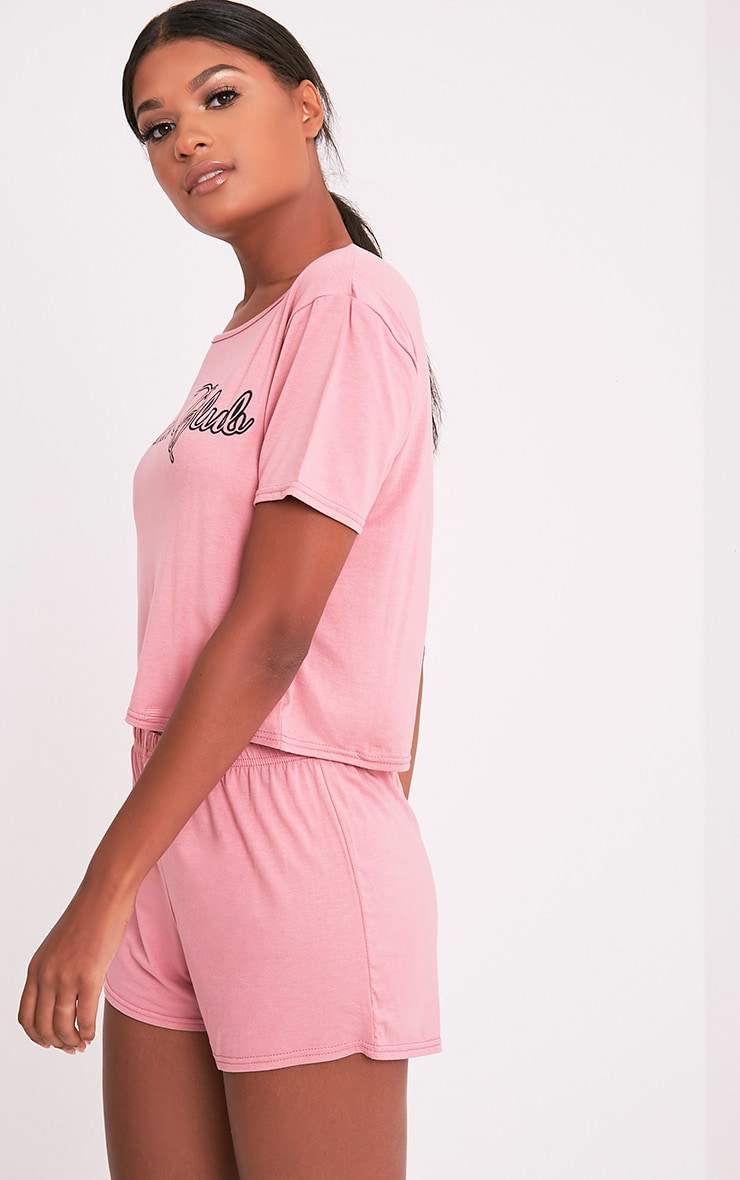 Brunch Club Rose Pyjama Short Set 3