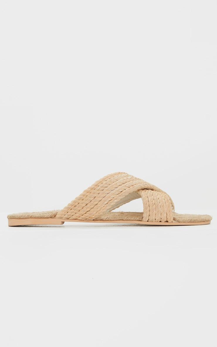 Nude Rope Cross Strap Mule Sandal 3