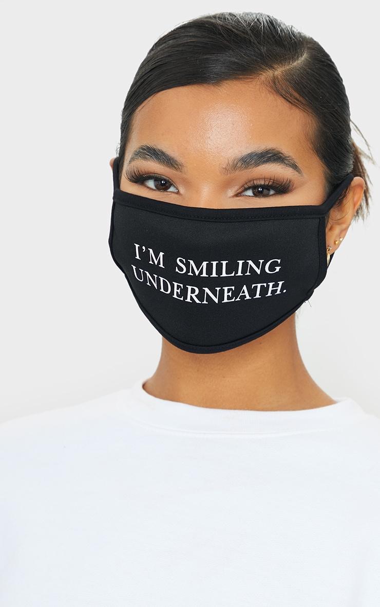 Black Im Smiling Underneath Face Mask 1
