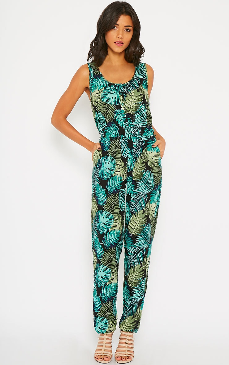 Bellina Hawaiian Print Jumpsuit 3