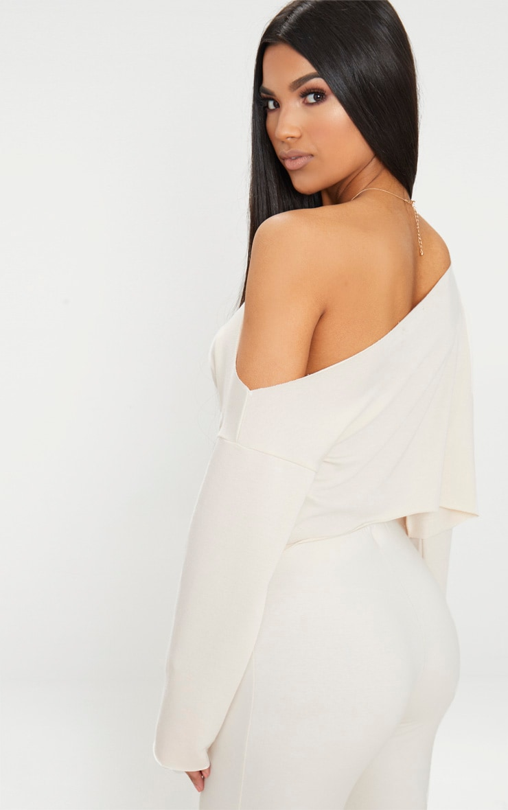 Off White Off Shoulder Sweater 2