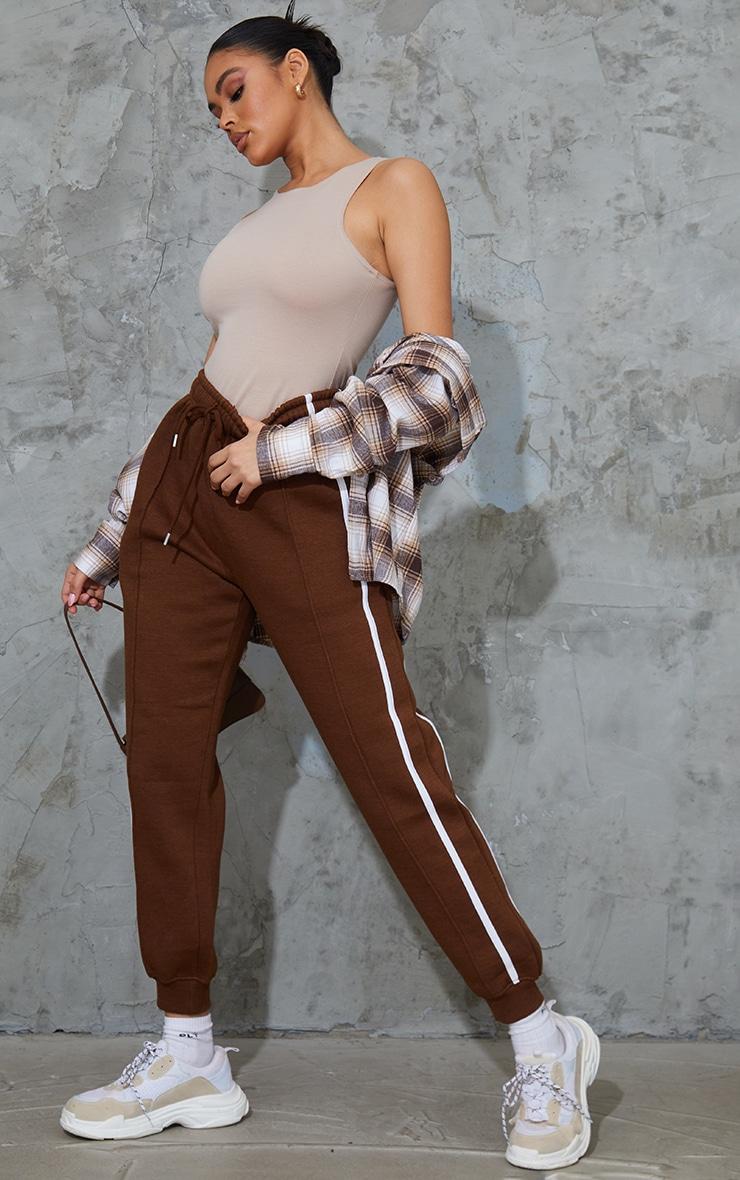 Chocolate Side Stripe Joggers 1