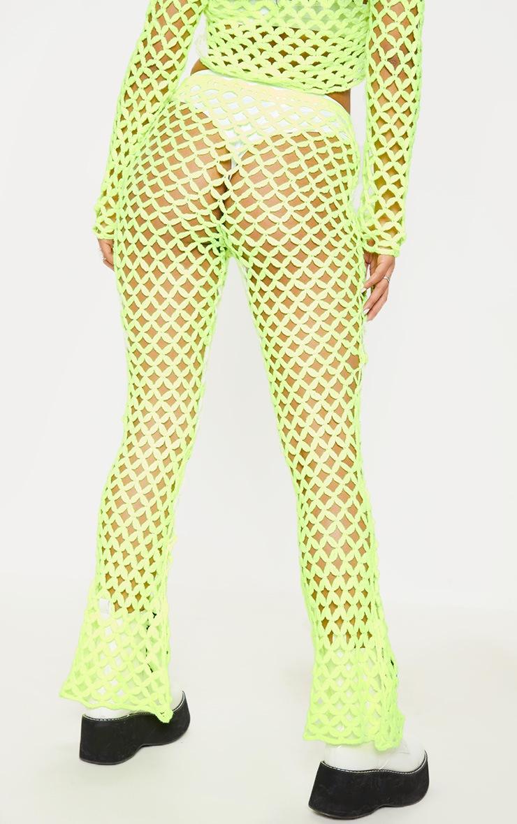 Lime Crochet Flares 4