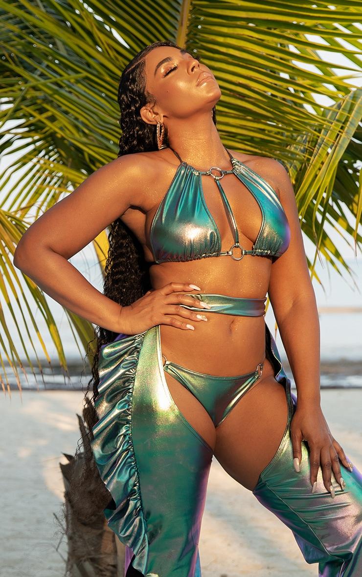 Metallic Strappy Bikini Top 1