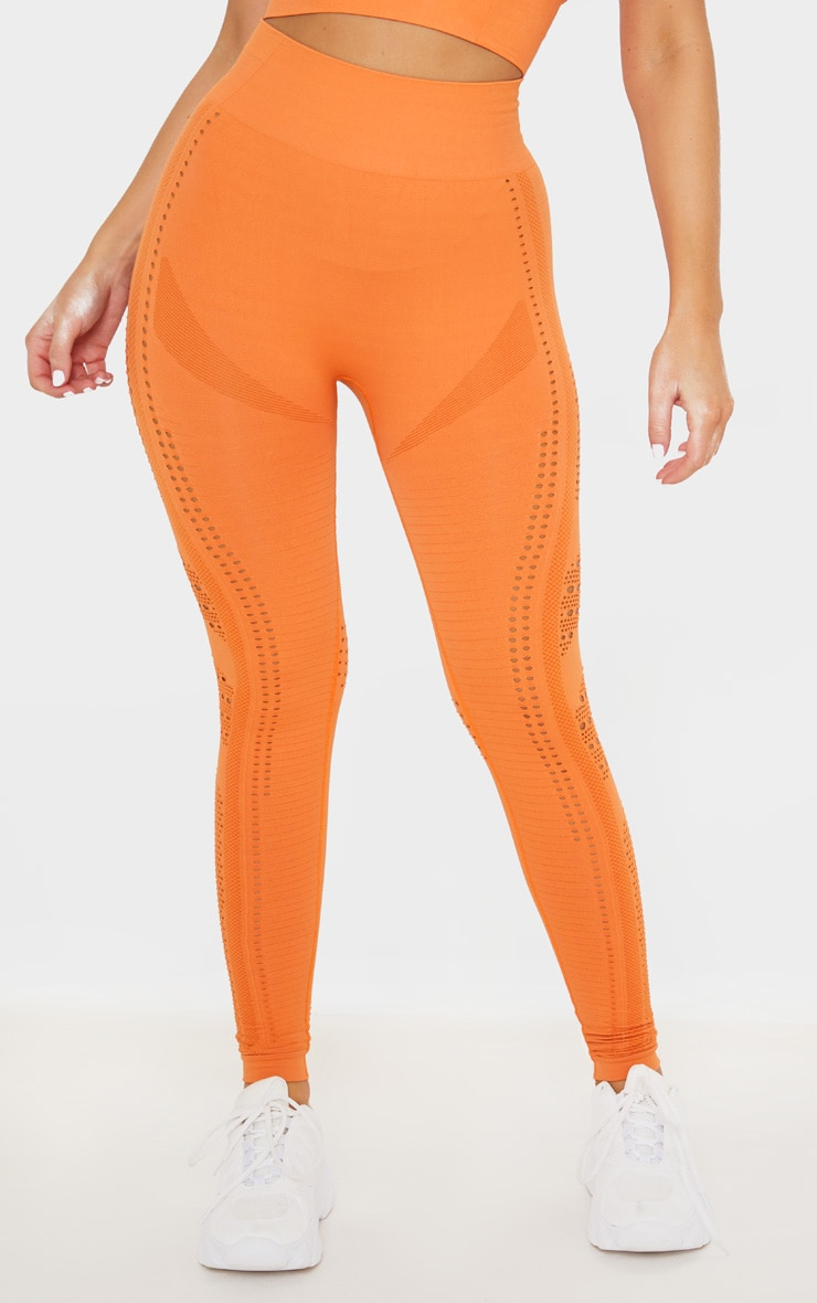 Orange Seamless Cut Out Legging 3