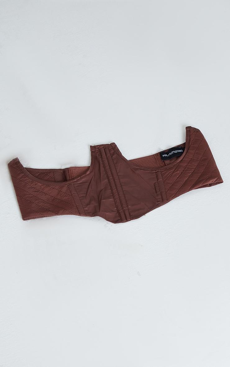 Chocolate Quilted Nylon Corset Belt 2