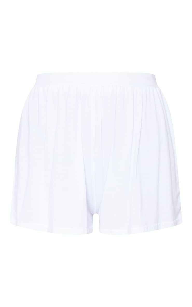Lucilla White Jersey Floaty Shorts 6