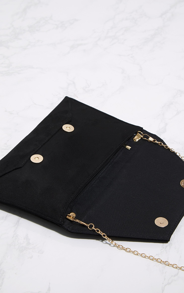 Black Envelope Clutch Bag 4