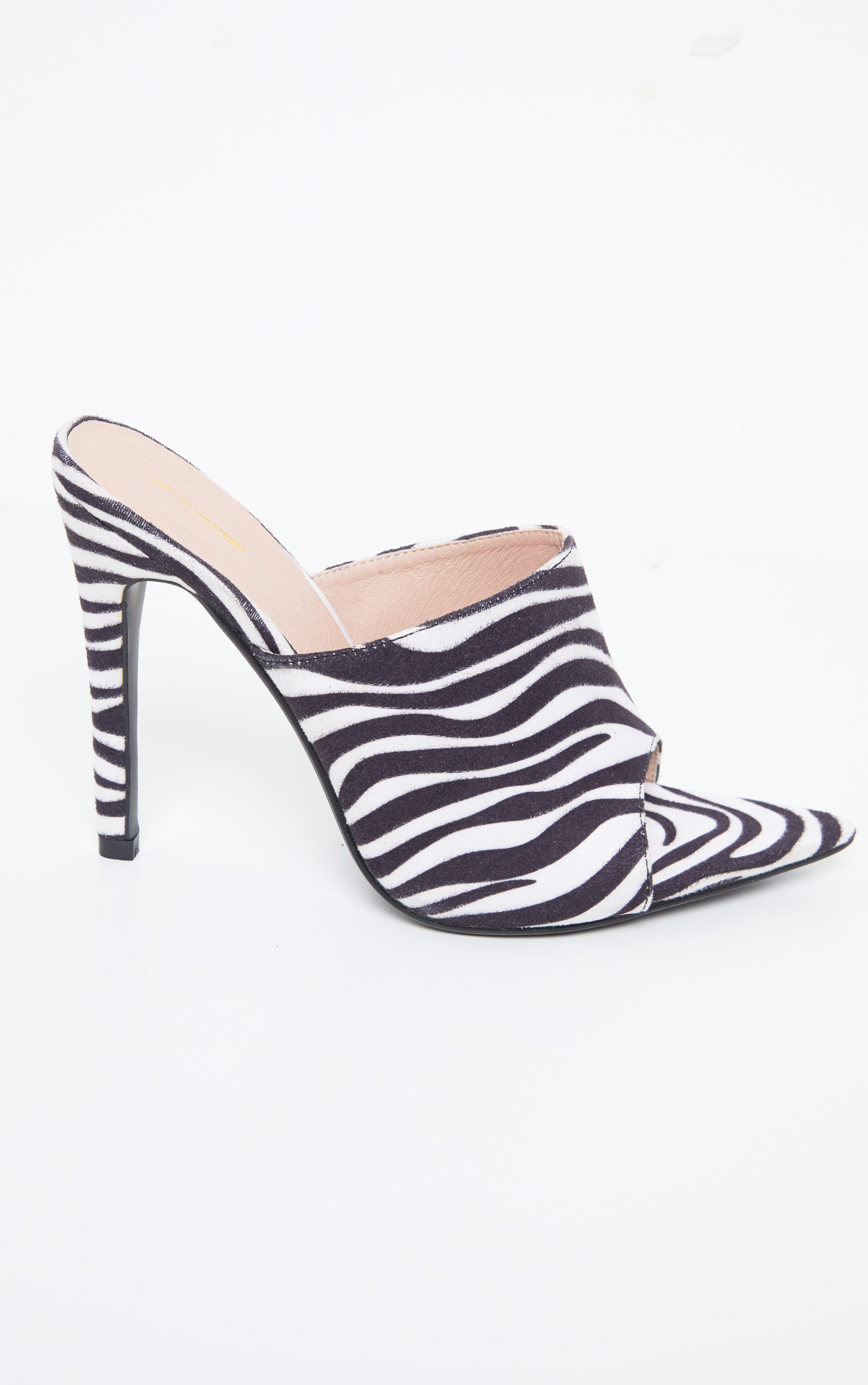 Zebra Extreme Point Toe Mule 5