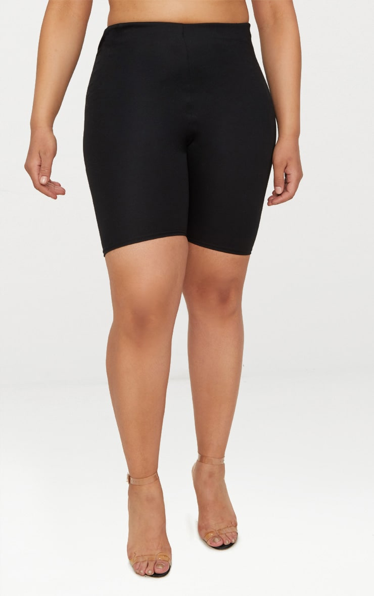 Plus Black Second Skin Bike Shorts 2