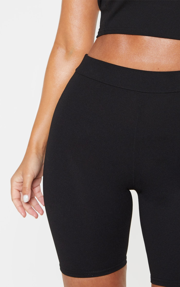 Petite Black Stretch Crepe Cycling Shorts 6