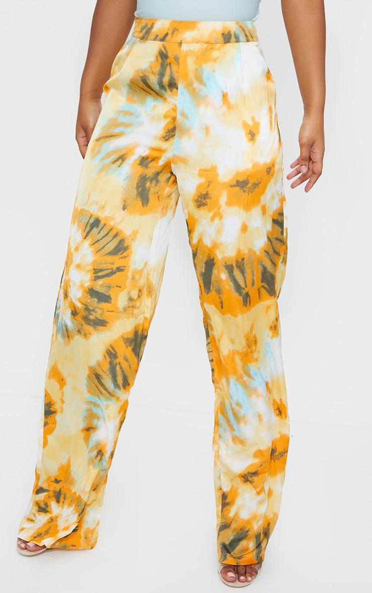 Orange Tie Dye Wide Leg Trousers 2