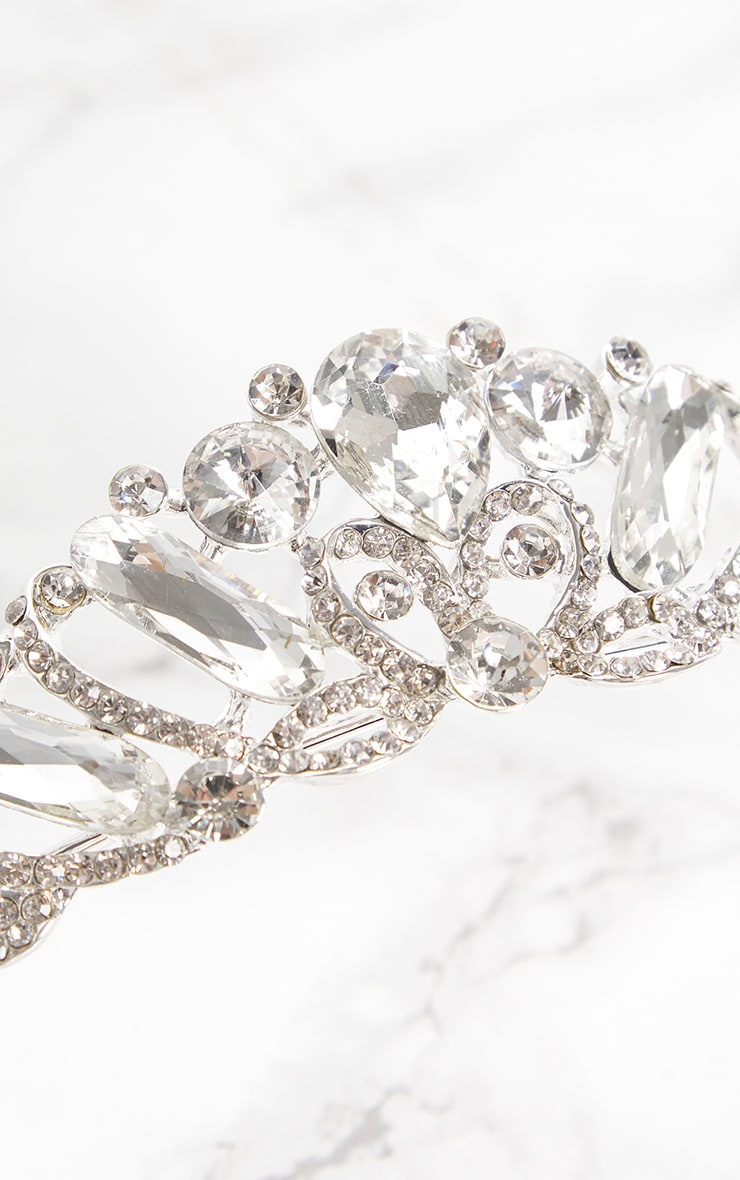 Silver Diamante Prom Tiara 5