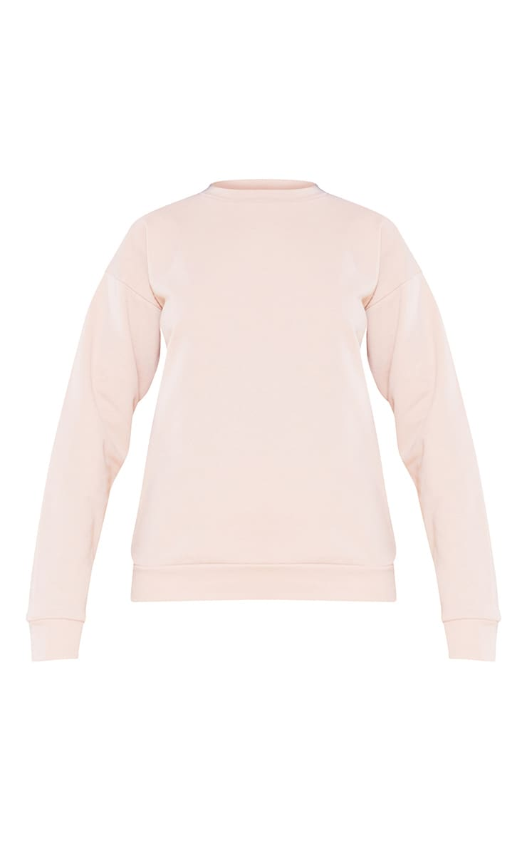 RECYCLED Deep Nude Crew Neck Sweater 3
