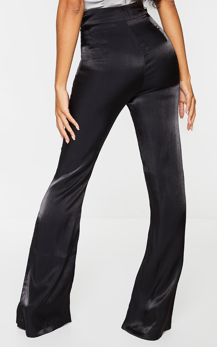 Black Iridescent Flared Pants 3