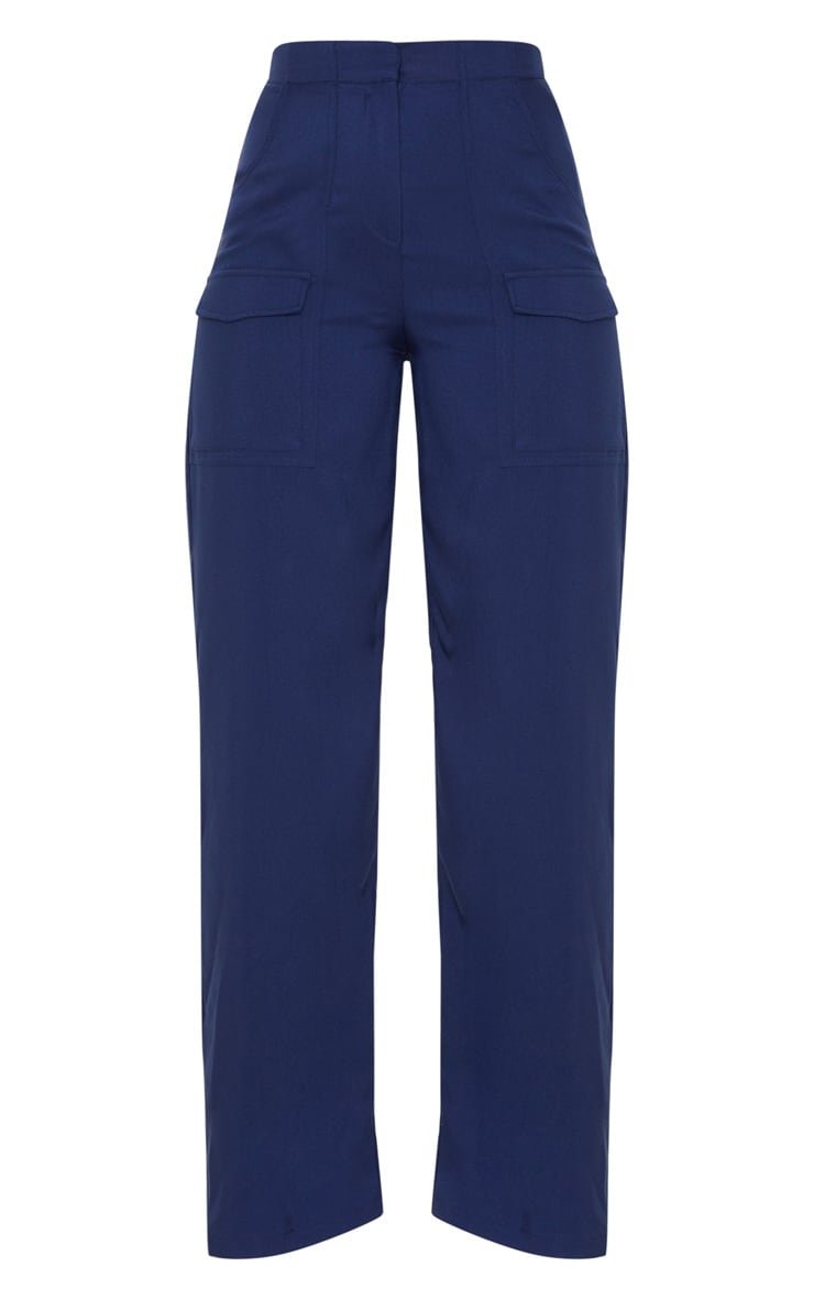 Navy Straight Leg Pocket Pants 3