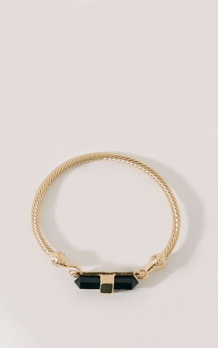 Lois Gold Black Stone Cable Bracelet 1
