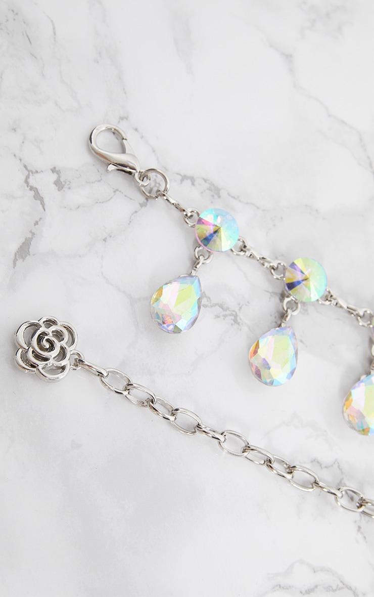 Silver Iridescent Jewel Belt 6