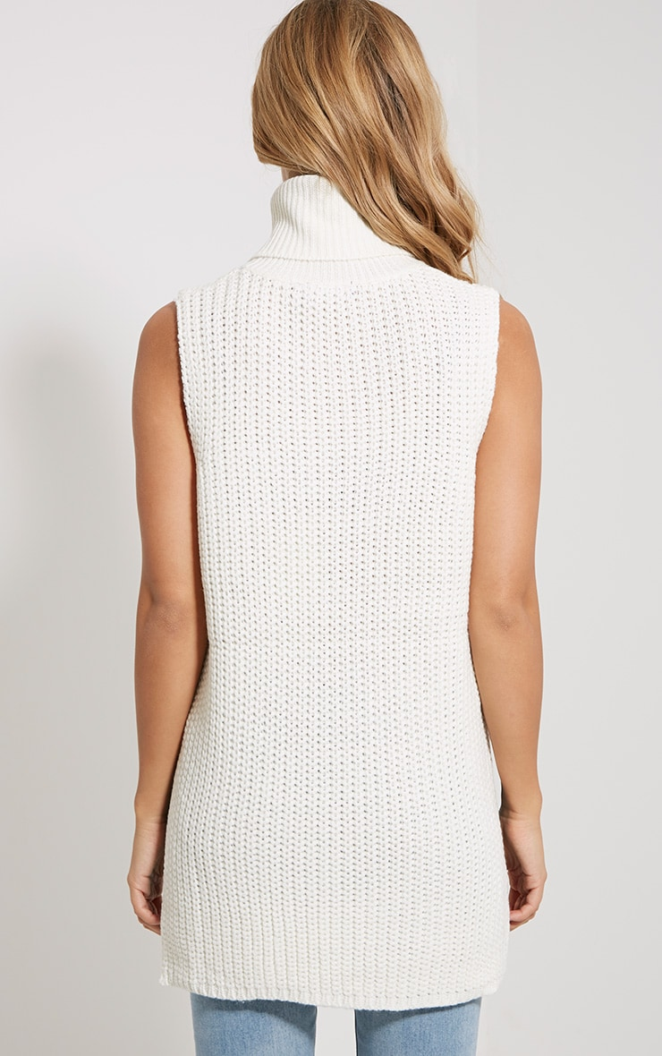 Lolla Cream Knitted Roll Neck Top 2