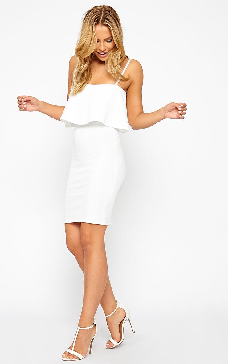 Hari Cream Frill Front Mini Dress 3