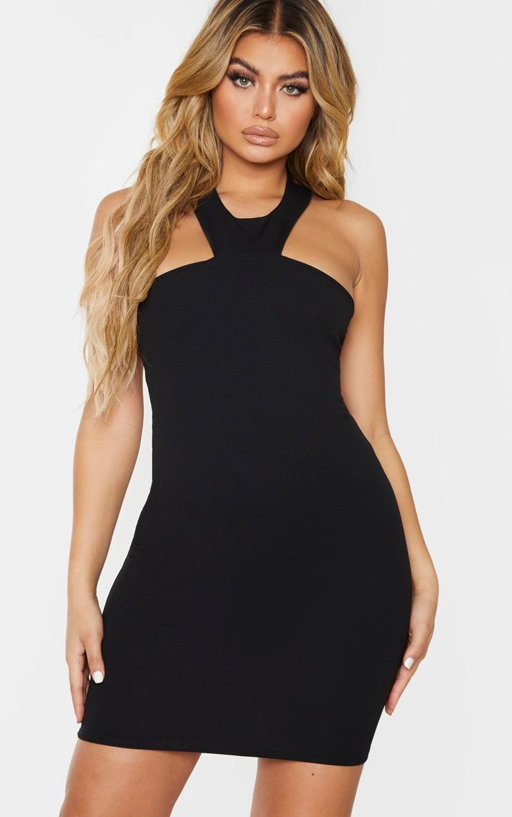 Black Halterneck Bodycon Dress 1