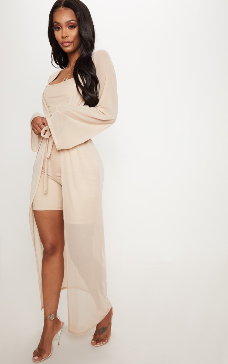 Shape Nude Sheer Mesh Maxi Duster Jacket 4