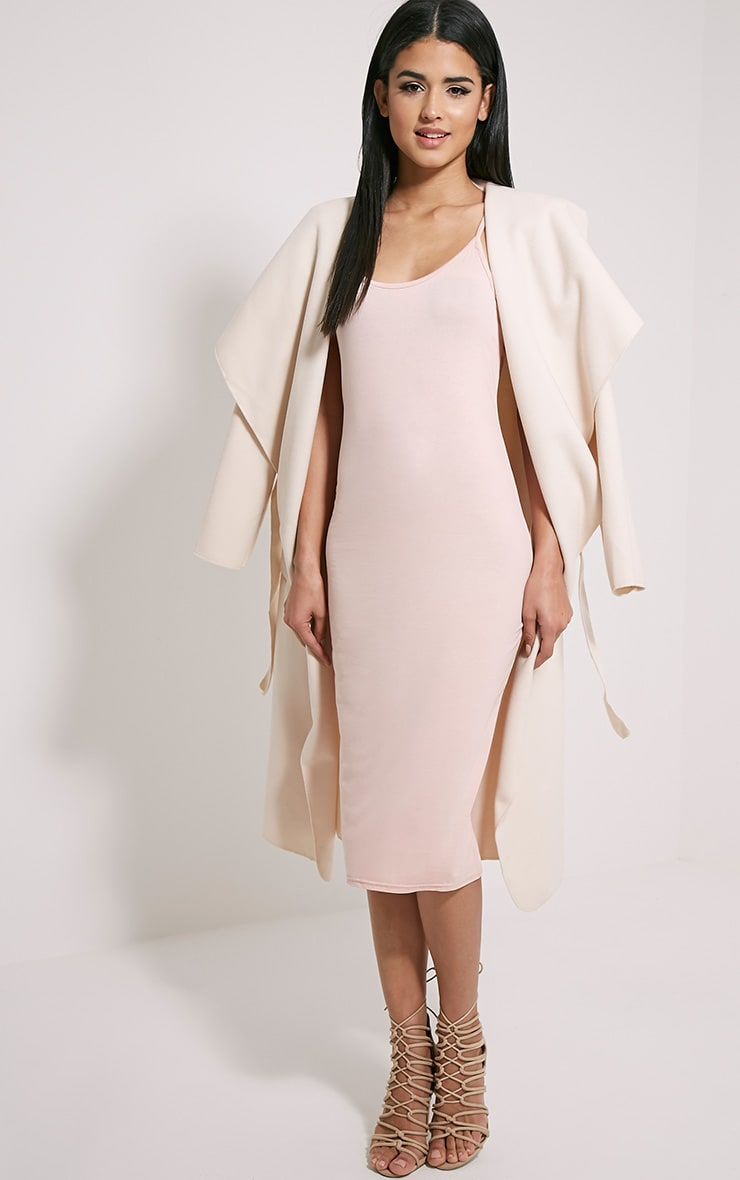 Basic Nude Midi Dress 3