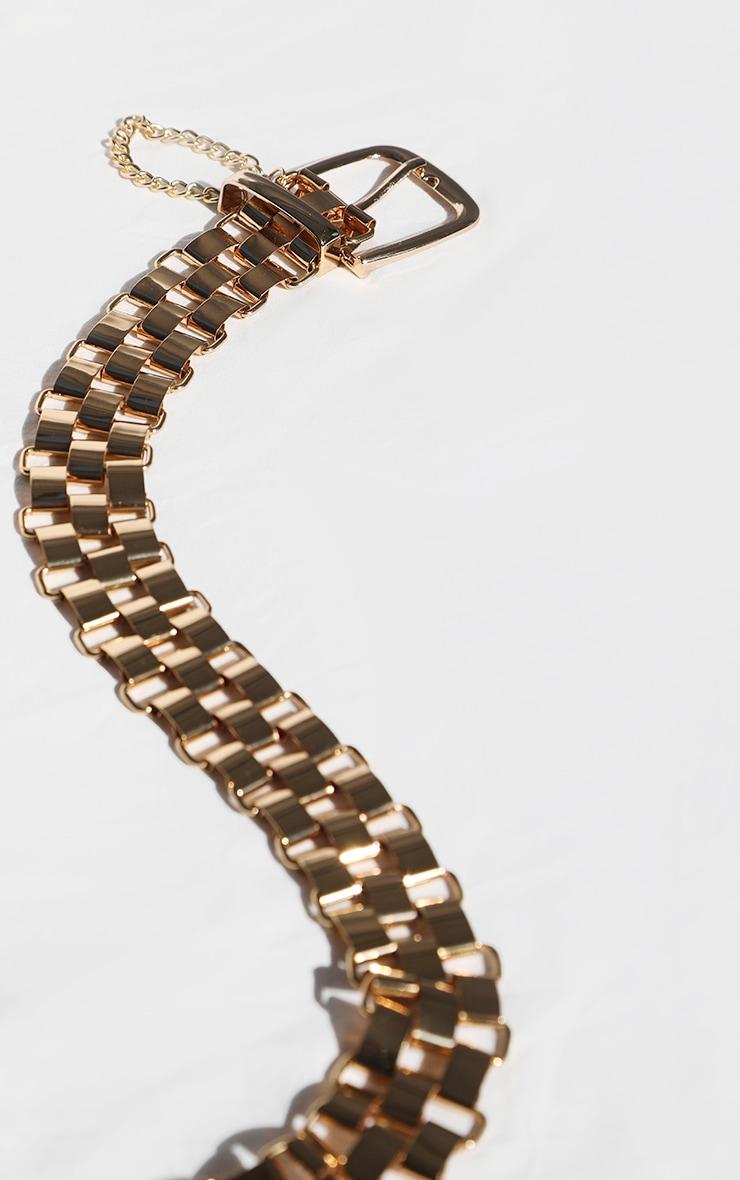 Gold Link Metal Chain Waist Belt 2