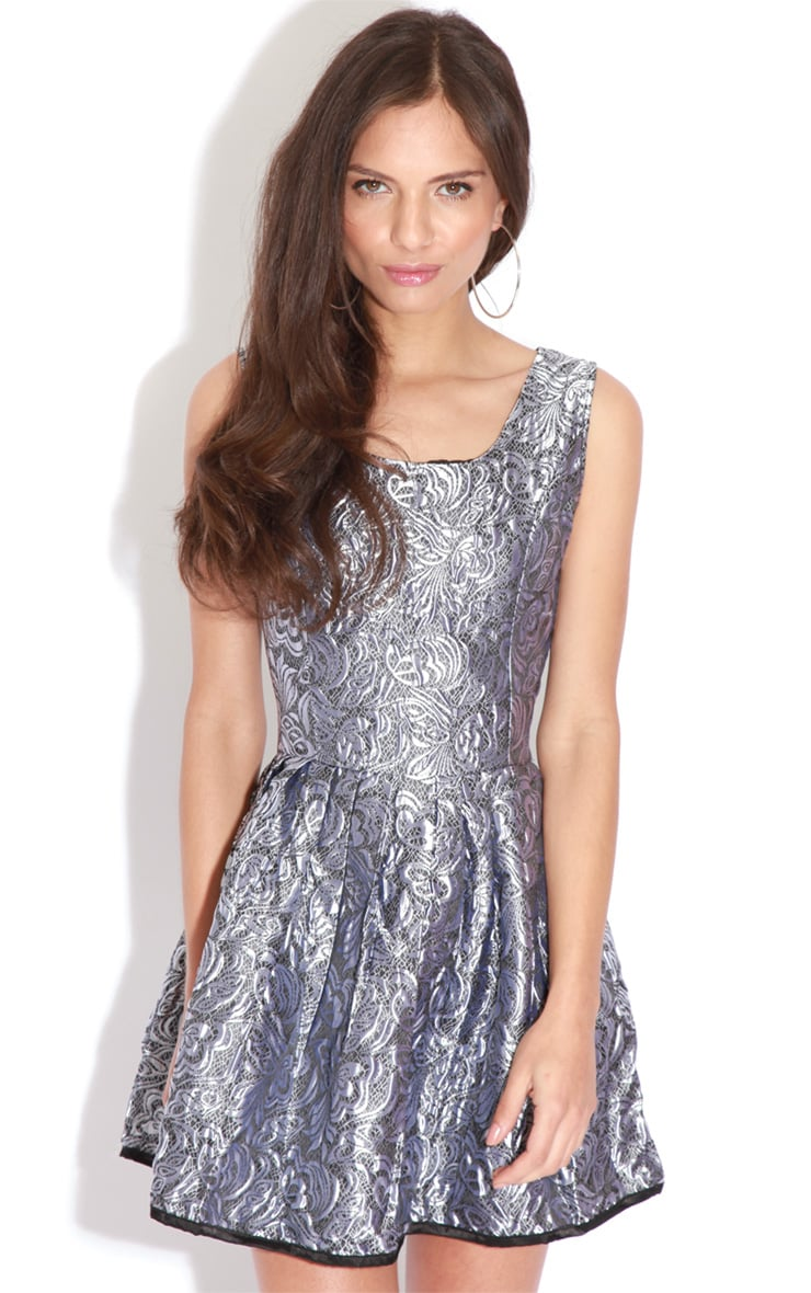 Martie Silver Baroque Heart Cut Out Dress 4