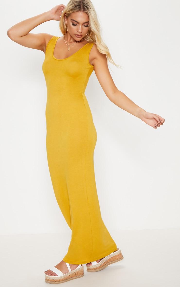 Basic Mustard Maxi Dress 4