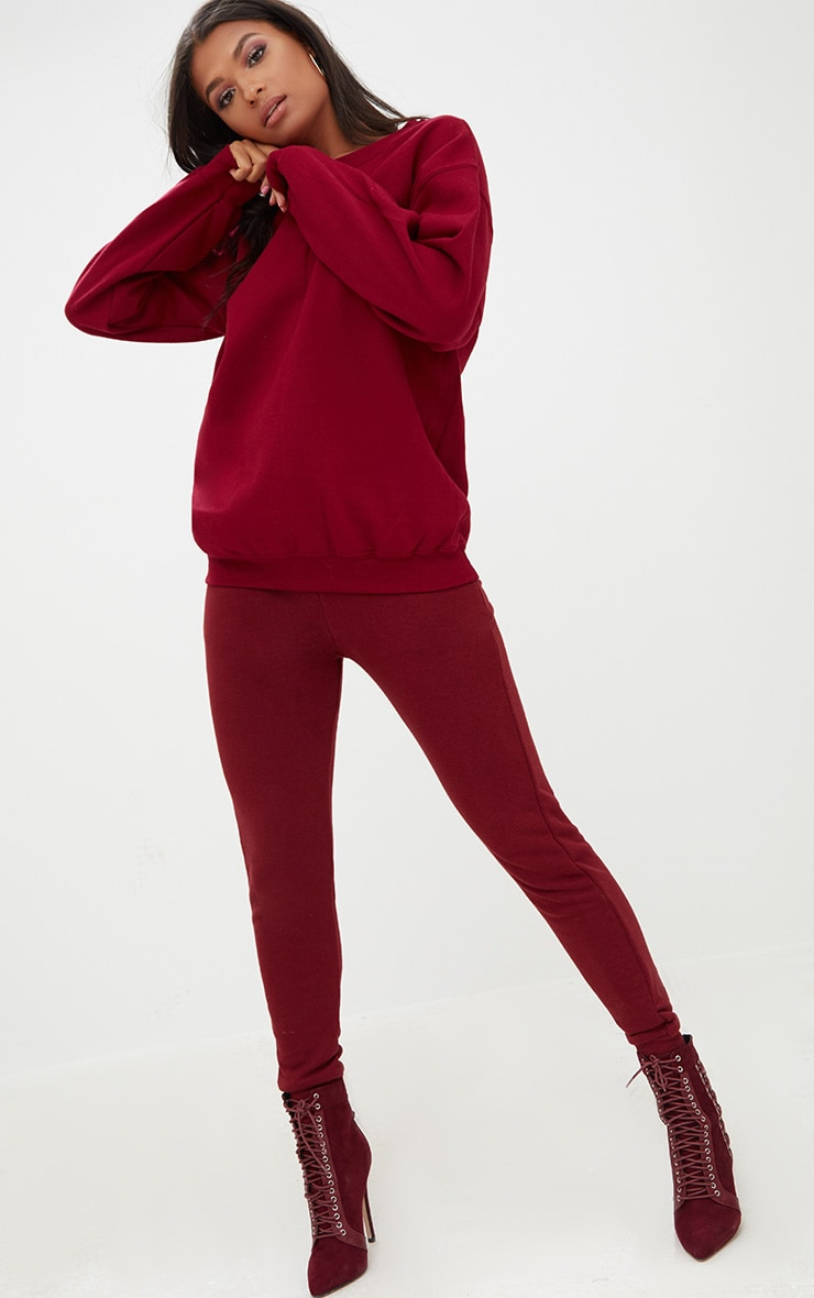 Burgundy Ultimate Oversized Sweater 4
