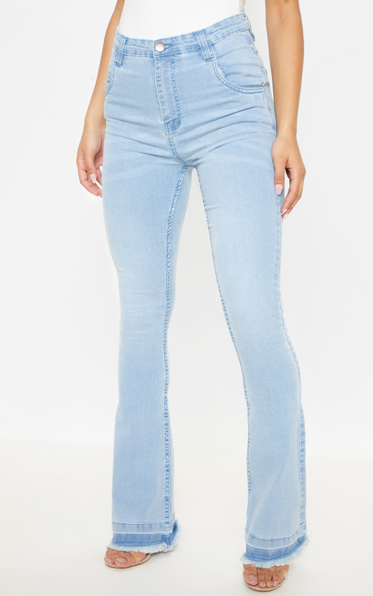 Flared Light Wash Jean 2